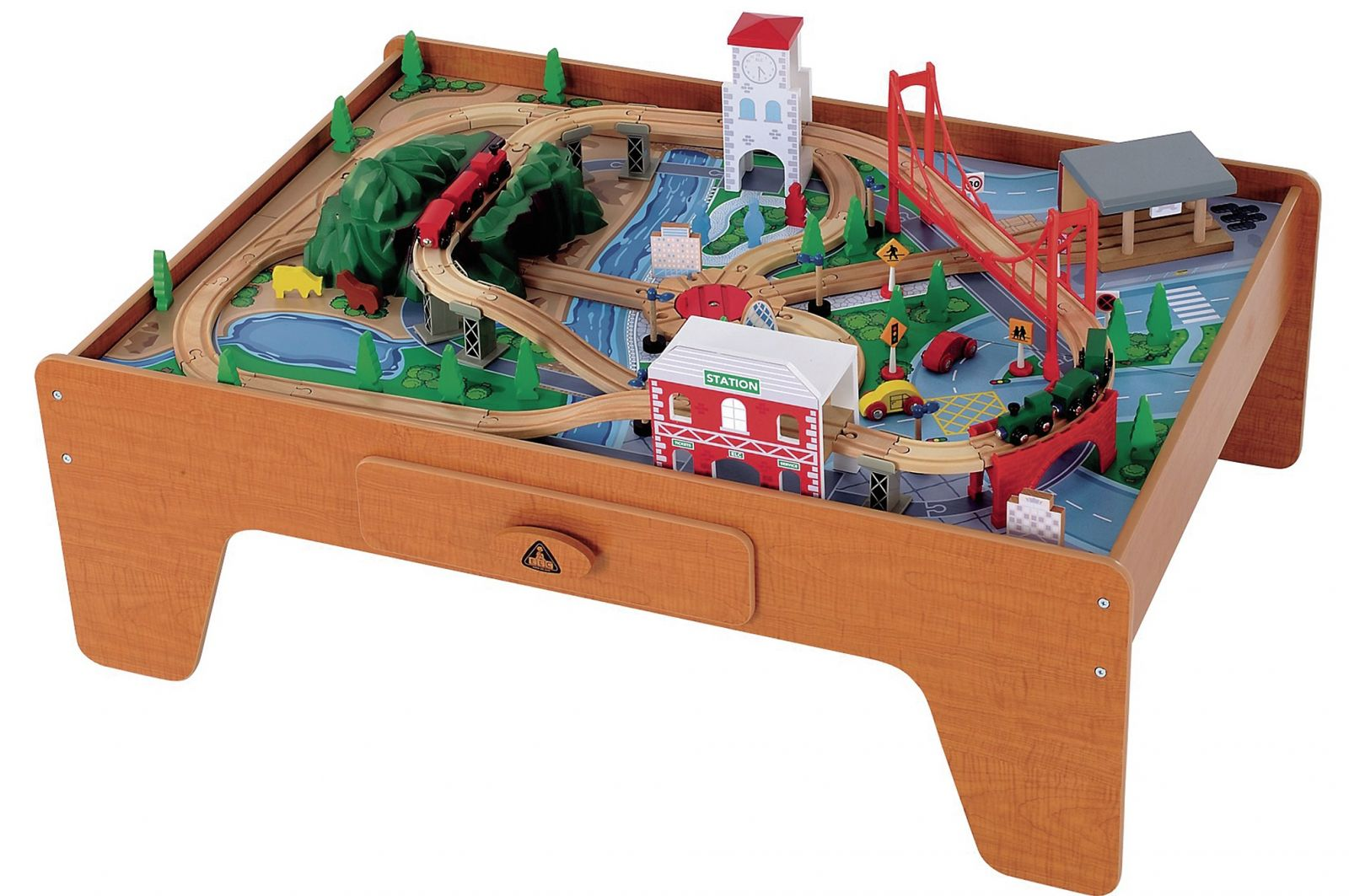 Kidkraft Ride Around Town 100 Piece Train Table And Set Instructions ...