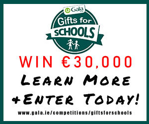 Advert: https://www.gala.ie/competitions/giftsforschools/